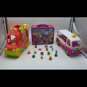 Shopkins, 2 Cars, 1 Lunch Box and 16 Shopkins